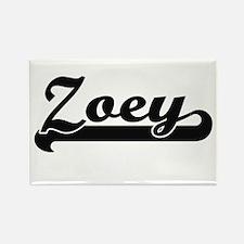 Zoey Classic Retro Name Design Magnets