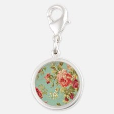 Beautiful Vintage rose floral Charms