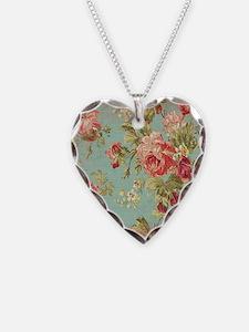 Beautiful Vintage rose floral Necklace