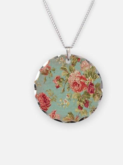 Beautiful Vintage rose flora Necklace