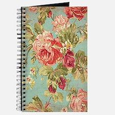 Beautiful Vintage rose floral Journal