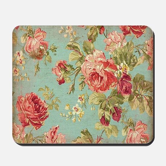 Beautiful Vintage rose floral Mousepad