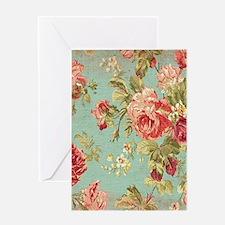 Beautiful Vintage rose floral Greeting Cards
