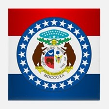 Missouri Flag Tile Coaster