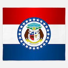 Missouri Flag King Duvet