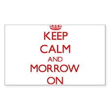 Keep Calm and Morrow ON Decal