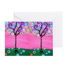 Flowering Trees Card Greeting Cards