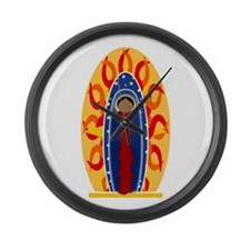 Unique Guadalupe Large Wall Clock