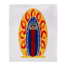 Unique Blessed virgin mary Throw Blanket