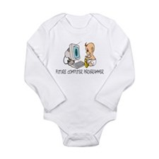 Cute Computer programmer Long Sleeve Infant Bodysuit