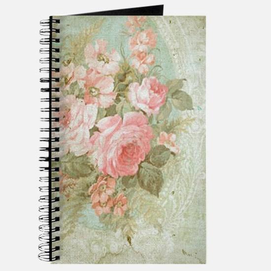Chic vintage pink rose Journal