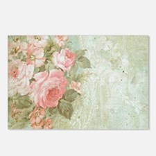 Chic vintage pink rose Postcards (Package of 8)