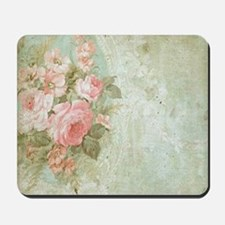 Chic vintage pink rose Mousepad