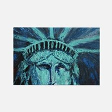 Funny Statue of liberty Rectangle Magnet