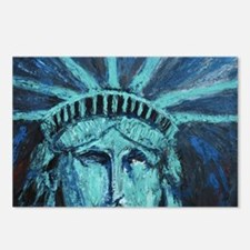 Funny Statue of liberty statue Postcards (Package of 8)