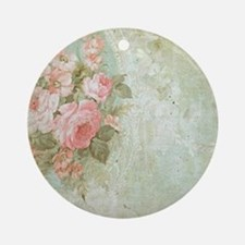 Chic vintage pink rose Ornament (Round)