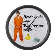 Hopeful Prisoner Shower Buddy Large Wall Clock