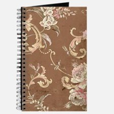 Beautiful Vintage brown floral Journal