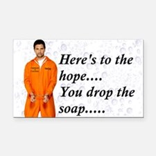 Hopeful Prisoner Shower Buddy Rectangle Car Magnet