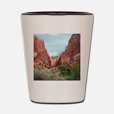 Kolob Canyons, Zion National Park, Utah Shot Glass