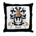 Sault Family Crest Throw Pillow