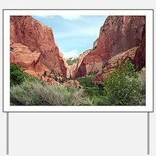Kolob Canyons, Zion National Park, Utah, Yard Sign