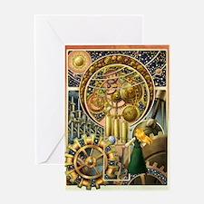 Clockwork Universe Clr Greeting Cards