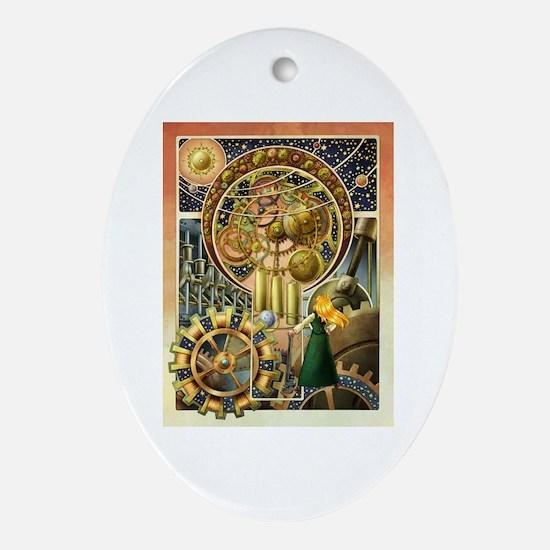 Clockwork Universe Clr Ornament (Oval)