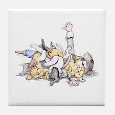 Cute Scurvy Tile Coaster