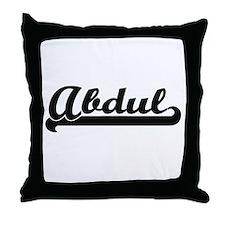 Abdul Classic Retro Name Design Throw Pillow
