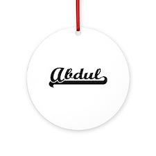 Abdul Classic Retro Name Design Ornament (Round)