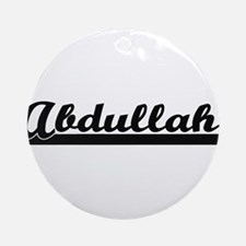 Abdullah Classic Retro Name Desig Ornament (Round)
