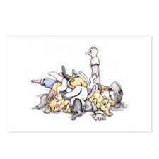 Puppy Pile on the Pirate Postcards (Package of 8)