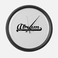 Abram Classic Retro Name Design Large Wall Clock