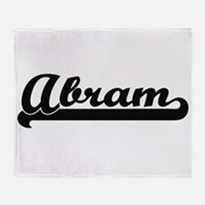 Abram Classic Retro Name Design Throw Blanket