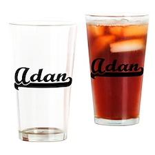 Adan Classic Retro Name Design Drinking Glass