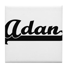 Adan Classic Retro Name Design Tile Coaster