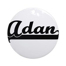 Adan Classic Retro Name Design Ornament (Round)