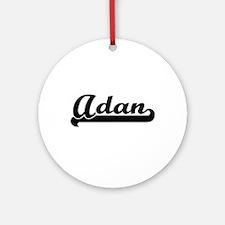 Adan Classic Retro Name Design Ornament (Round)