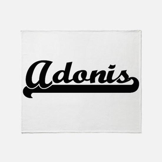 Adonis Classic Retro Name Design Throw Blanket
