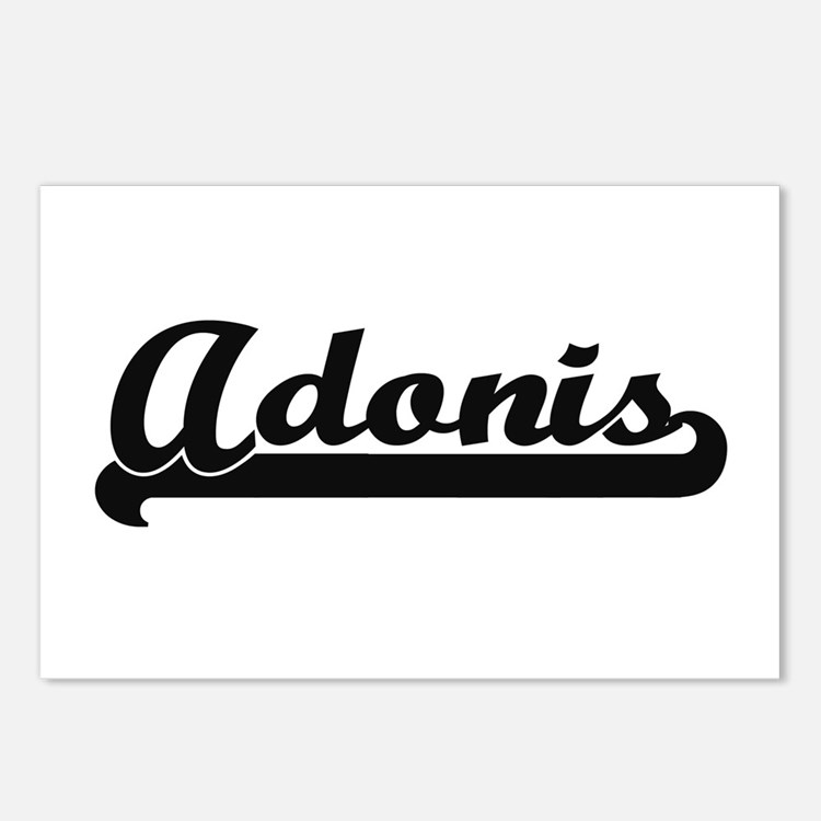 Adonis Classic Retro Name Postcards (Package of 8)