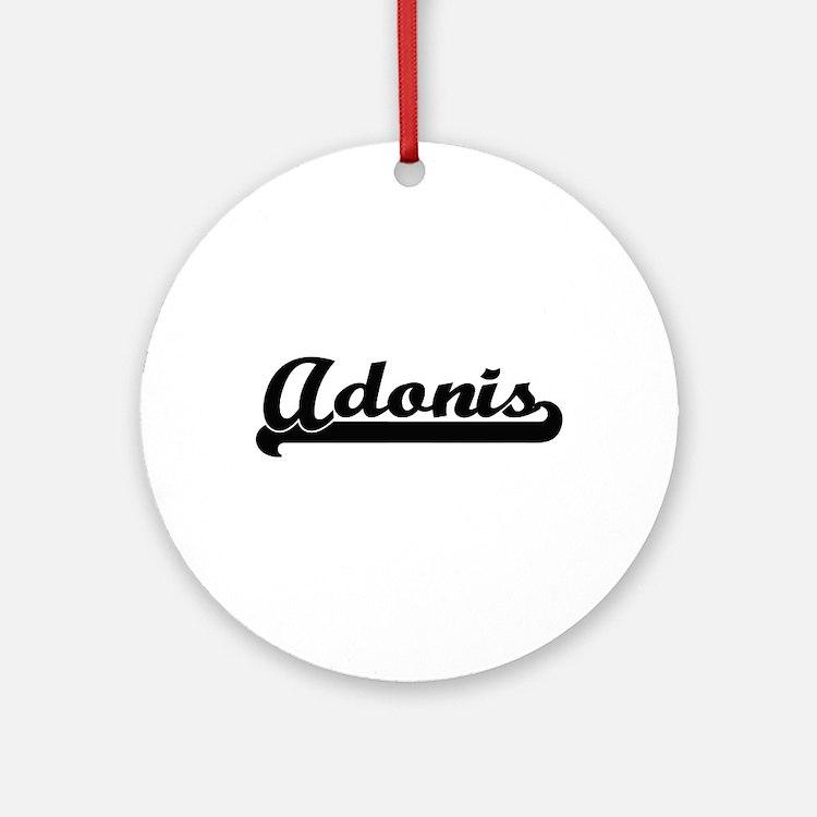 Adonis Classic Retro Name Design Ornament (Round)
