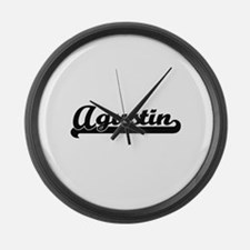Agustin Classic Retro Name Design Large Wall Clock