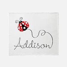 Ladybug Addison Throw Blanket