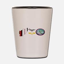 Cool Uss ronald reagan Shot Glass