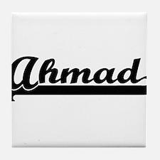 Ahmad Classic Retro Name Design Tile Coaster