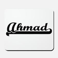 Ahmad Classic Retro Name Design Mousepad