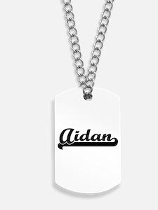 Aidan Classic Retro Name Design Dog Tags