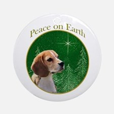 Beagle Peace Ornament (Round)