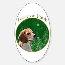 Beagle Peace Oval Decal